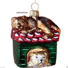 Christbaumschmuck: KATZE & HUND - einzigartiger Glasschmuck - Weihnachtsdeko | eBay