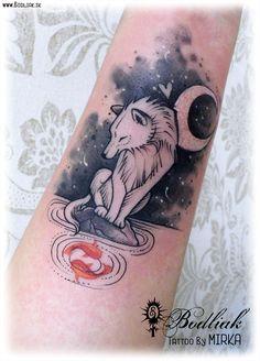Vlk s rybkami #art #tat #tattoo #tattoos #tetovanie #original #tattooart #slovakia #zilina #bodliak #watercolor #bodliaktattoo #bodliak_tattoo #wolf_tattoo #wolf  #fish_tattoo