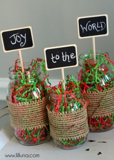 Christmas Jar Decor