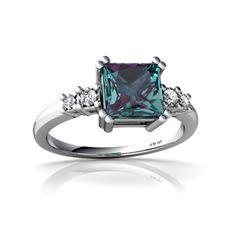 June birthstone Alexandrite  engagement ring idea