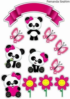 Ckren uploaded this image to 'Animales/Osos Panda'. See the album on Photobucke… Ckren uploaded this image to 'Animales/Osos Panda'. Panda Themed Party, Panda Birthday Party, Panda Party, Bolo Panda, Minnie Mouse Clipart, Panda Baby Showers, Printable Designs, Panda Bear, Scrapbook Paper