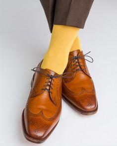 Dapper Classics Yolk Ribbed Linked Toe Sock