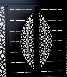 House Main Gates Design, Front Gate Design, Main Door Design, Door Design Interior, Home Design Decor, Steel Grill Design, Metal Gates, Metal Doors, Gate Designs Modern