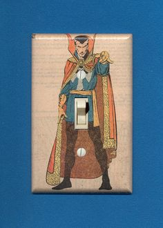 Doctor Strange reveals how he got his name. Quality-made vintage comic book light switch plate. $12.95.