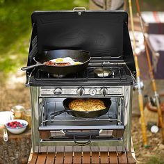 Camping stove/oven is like an Easy Bake Oven for adults!