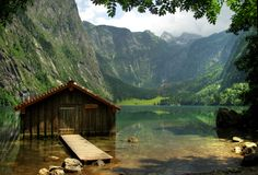 Old boathouse by Béla Török via 500px. Obersee, Germany
