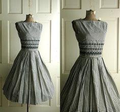 1950s Gingham Dress / Vintage Summer Dress by DalenaVintage, $78.00
