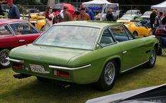 Mobil Keren 1969 Lamborghini Islero S Green Front View