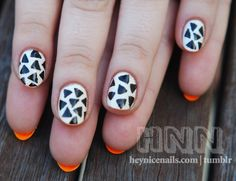 One of the coolest things we've seen today - painting the underside of your nails! xx