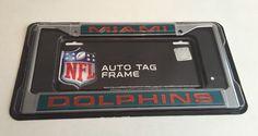 nfl laser cut license plate frame miami dolphins ricoindustries miamidolphins - Miami Dolphins License Plate Frame