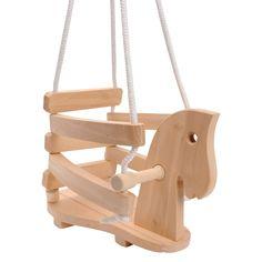 Houten schommel in de vorm van een paard. Geschikt voor kindjes vanaf 2 jaar. Te vinden bij Sassefras Meisjes Speelgoed voor écht peuter en kleuter speelgoed