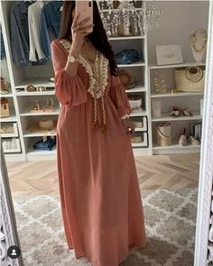 Kaftan dresses in neutrals Hijab Evening Dress, Hijab Dress Party, Evening Dresses, Summer Dresses, Abaya Fashion, Fashion Dresses, Estilo Abaya, Morrocan Dress, Mode Abaya