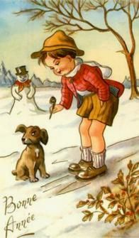 vintage everyday: Cute and Beautiful Vintage New Year's Postcards Antique Christmas, Vintage Christmas Cards, Christmas Images, Vintage Cards, Vintage Postcards, Vintage Stuff, Xmas Cards, Vintage Images, Christmas Time