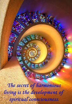 "metaphysical quote | new thought | higher consciousness | ""The secret of harmonious living is the development of spiritual consciousness."" - Joel S. Goldsmith"