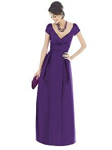 Alfred Sung - purple dress with silver accessories or maybe vise versa