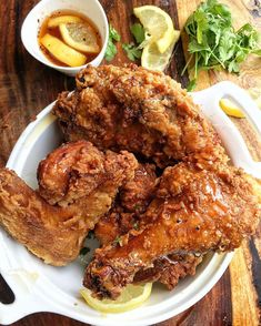Lemon Pepper Honey Fried Chicken The recipe is posted athellip