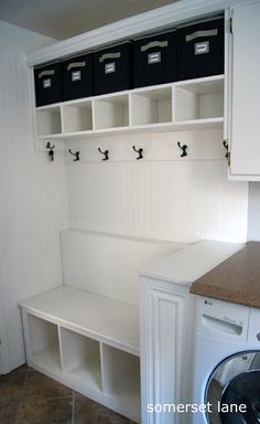 Maybe A Small Mudroom Like Area In The Laundry Room Hmmm