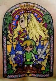 my husband wants a zelda sleeve. i will get a single zelda tat to match his. Gamer Tattoos, Tattoos Skull, Cool Tattoos, Amazing Tattoos, Legend Of Zelda Tattoos, Geeks, Video Game Tattoos, Stained Glass Tattoo, Tribute Tattoos
