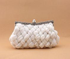 92048 Elegant Satin Banquet Bag Metalic Bridal Handbags