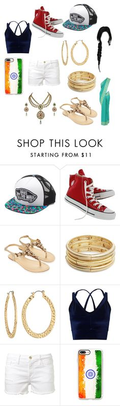 """Hetalia OC New Delhi"" by xxshemurrqueenxx ❤ liked on Polyvore featuring Vans, Converse, Monsoon, Nanette Lepore, Fragments, Miss Selfridge, Frame and Casetify"
