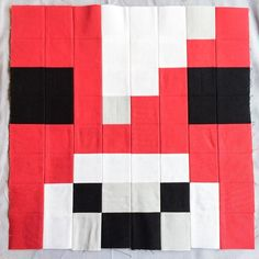 Looking for your next project? You're going to love Minecraft Quilt Block - Mooshroom by designer Tricia_Curtis.