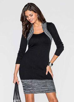 Marl Trim Knit Dress