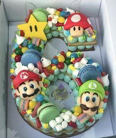 Baby boy birthday cake super mario new ideas Mario Birthday Cake, Number Birthday Cakes, Super Mario Birthday, Super Mario Party, Number Cakes, 6th Birthday Parties, Birthday Cake Kids Boys, Birthday Ideas, Birthday Numbers
