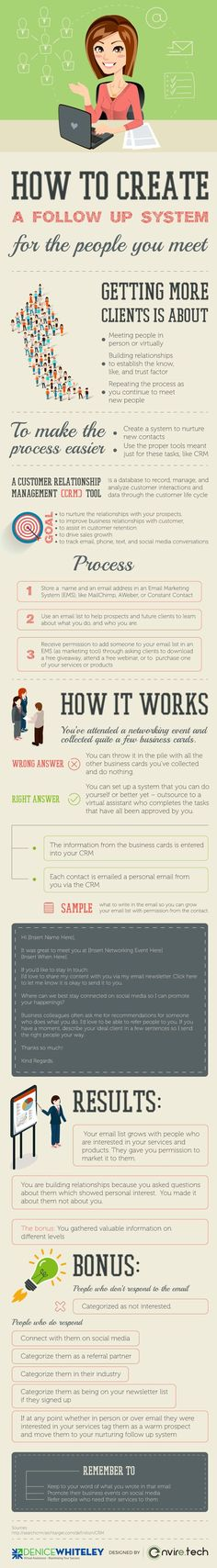 Tips on turning the people you meet into business clients #infographic #Business #CRM #Marketing #EmailMarketing http://itz-my.com
