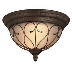 Portfolio�15.28-in W Oil-Rubbed Bronze Ceiling Flush Mount $74