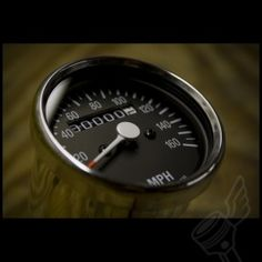 "2.5"" Chrome Mini Speedometer - (Black Face) http://www.dimecitycycles.com/vintage-cafe-racer-caferacer-bobber-brat-chopper-custom-motorcycle-electronic-parts-mini-chrome-speedo-speedometer-15-0030b.html"