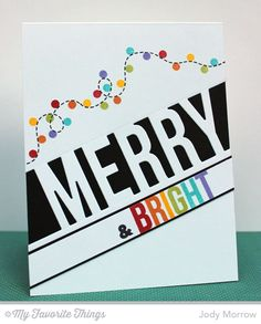 Darling Dots, Merry Messages, Perk Up, Merry Die-namics - Jody Morrow #mftstamps