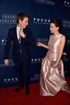 Pin for Later: All the Times Eddie Redmayne and Felicity Jones Made Our Hearts Melt And the goofiness is really just too much. We love you guys!