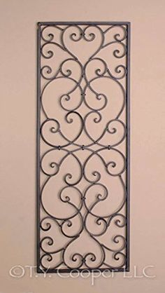 Wrought Iron X Rectangle Wall Decor