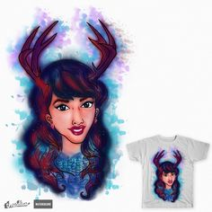 "VOTE ! My artwork ""Deer Girl"" on Threadless: https://www.threadless.com/designs/deer-girl-5?utm_source=notification&utm_medium=email&utm_campaign=Design-Approved-Funding-Shared"