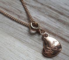 Anhänger - ♥rosevergoldeter Anhänger m. Kette Mom ♥ Geschenk - ein Designerstück von Mein-Schmuckzauber bei DaWanda