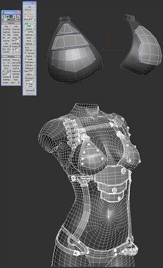 Samar Vijay - Making of Cow Girl… Zbrush Character, 3d Model Character, Game Character Design, Character Modeling, Character Concept, Game Design, Maya Modeling, Modeling Tips, Zbrush Tutorial