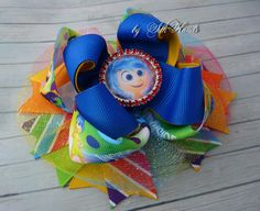 *Inside out Bow Inside out Birthday Inside out Joy by SilkHands