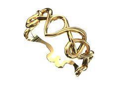 Art nouveau ring  3d printed
