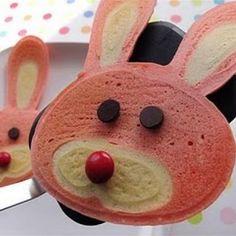 For Breakfast....Pancake Art: Easter Bunny
