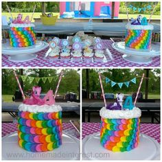 My Little Pony is all the rage and we have some great ideas for your next birthday party. Easy diy decorations, recipes and party favors. Kids will go crazy for the Rainbow cake, cake banner, dipped oreo's, cutie marks face painting and there are a few simple crafts you can do to make your party special.
