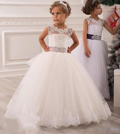Cheap Flower Girl Dresses, Buy Directly from China Suppliers: Graceful Kids Beauty Pageant Dresses First Communion Dresses For Girls Ivory Lace Flower Girl Dress Vestido De Comunion