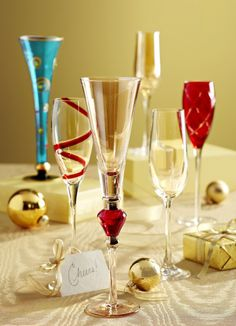 Add visual appeal to the table with Pier 1 Glassware