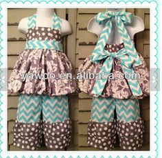 Wholesale Bubble Dress Ruffle Pants Outfit First Birthday Outfit Birthday Party Dress Toddler Girl Dress Girl Chevron Dress Set - Buy Baby G...