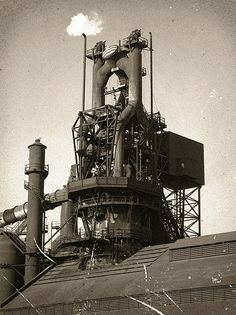 Blast furnace at the Ford River Rouge Plant in Dearborn, Michigan