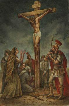 Jesus' Crucifixion ~ Cross by Val Buchkov