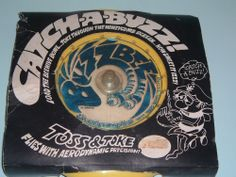 Vintage 1978 Catch a Buzz Buzzbee Toss & Toke Flying frisbee type Original Pkg