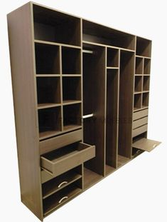 Me: If doubled for HIS and HERS, this can work. Keep cubbies and hanging separate. Drawers/trays only. nothing funky at the bottom like shown. Wardrobe Door Designs, Wardrobe Design Bedroom, Wardrobe Closet, Built In Wardrobe, Closet Designs, Closet Bedroom, Closet Space, Furniture Making, Bedroom Furniture