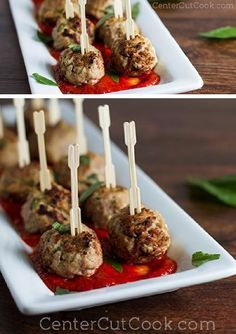 """RICOTTA cheese is the """"secret ingredient"""" in these TURKEY MEATBALLS to keep them ultra moist! Healthy, and delicious!"""