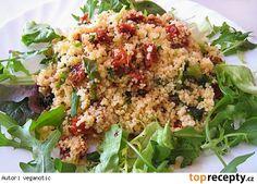Rychlý kuskus plný chutí Couscous, Fried Rice, Workout Programs, Cobb Salad, Quinoa, Vegan Recipes, Vegan Food, Grains, Food And Drink