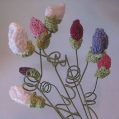 Knitted bouquet